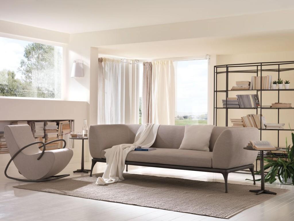Camilla poltrona a dondolo e Iseo divano - rocket armchair and sofa